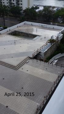April 25, West view of West Deck