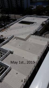 May 1st, 2015 West view of West Deck