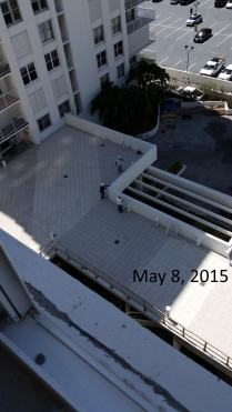 May 8, 2015 East view of West Deck