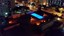 West Pool by Night
