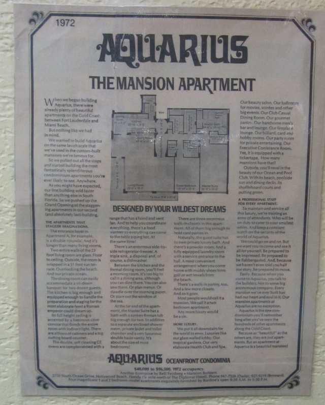 1972 Original Ad Aquarius
