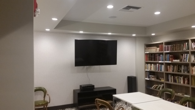 The Library works in an honor systems. Bring one book take one book. Your donation is appreciated. We now have a UD 4K 75 inches TV set. The first show was a success. Did you come?