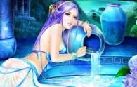 Logo blue girl