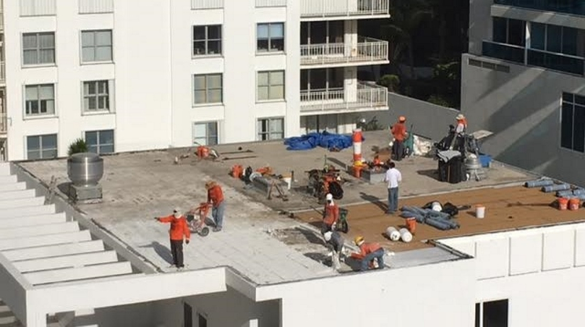 Day one - demolition of the old roof - September 14
