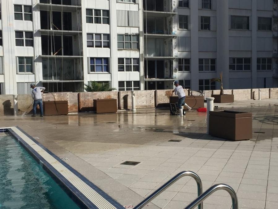 Cleaning Detail Aquarius Condominium Hollywood Florida