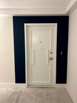 Door of Apartment of line 7 with new lock hardware.